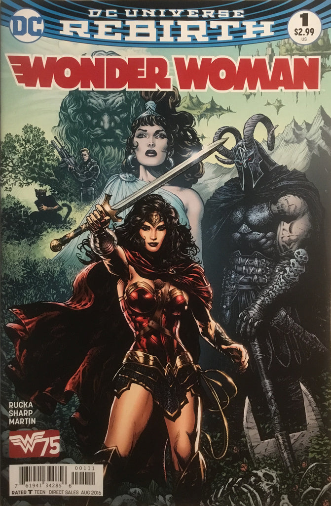 WONDER WOMAN # 1 (DC UNIVERSE REBIRTH) FIRST PRINTING