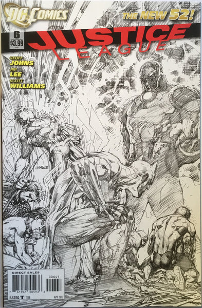 JUSTICE LEAGUE # 6 (THE NEW 52) JIM LEE 1:200 SKETCH VARIANT - Comics 'R' Us