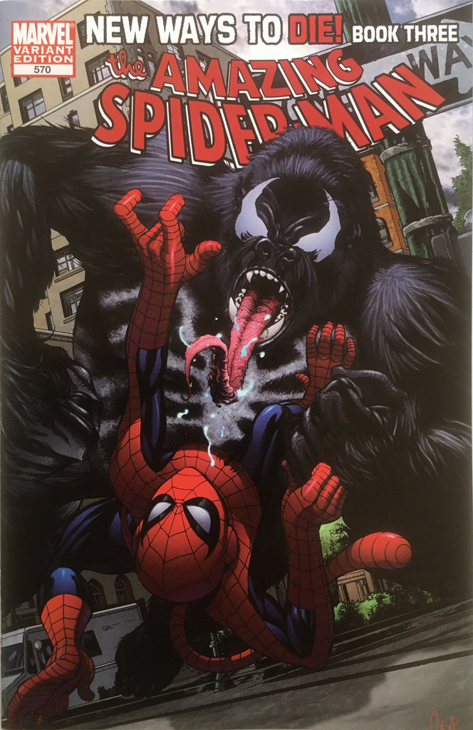 AMAZING SPIDER-MAN (1999-2013) #570 McKONE MONKEY COVER (1:10 VARIANT)