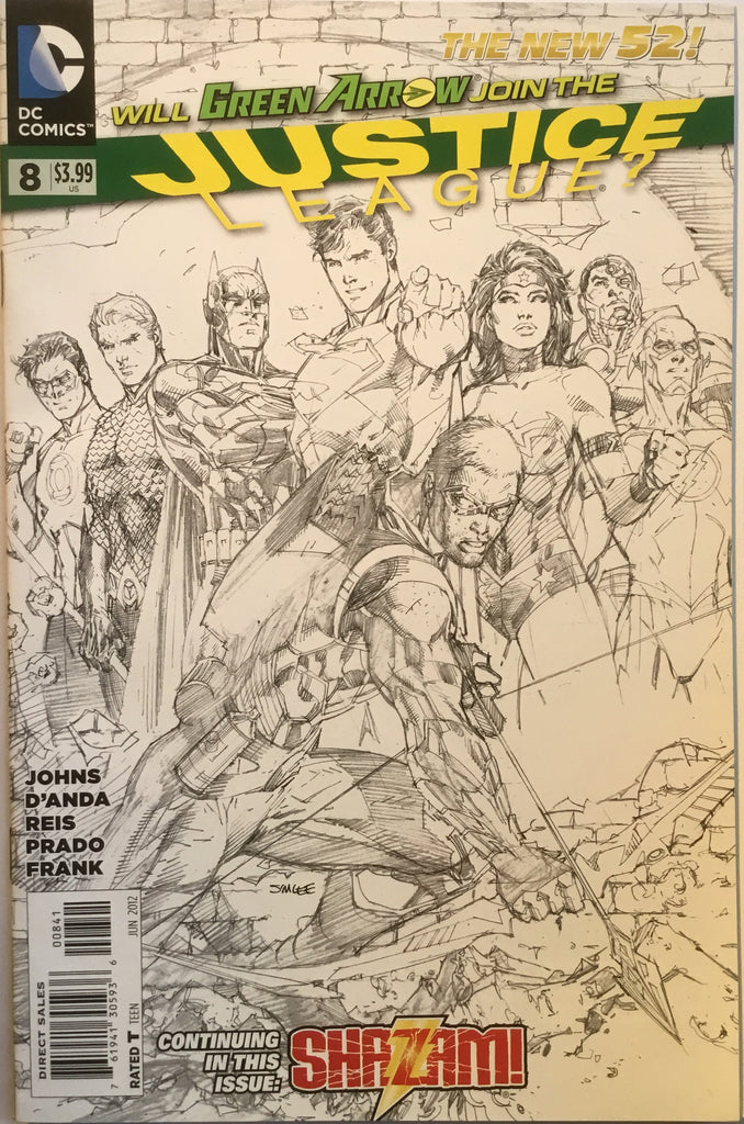 JUSTICE LEAGUE # 8 (THE NEW 52) JIM LEE 1:200 SKETCH VARIANT - Comics 'R' Us