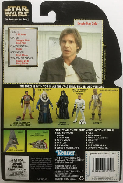 STAR WARS BESPIN HAN SOLO ACTION FIGURE 1997