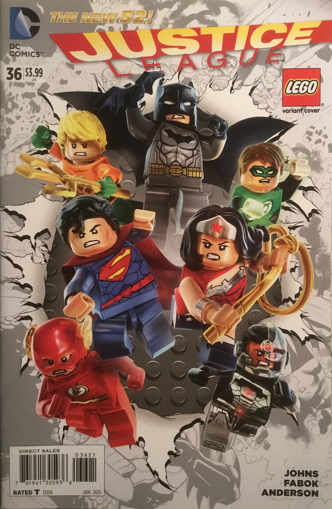 JUSTICE LEAGUE (THE NEW 52) # 36 LEGO VARIANT COVER