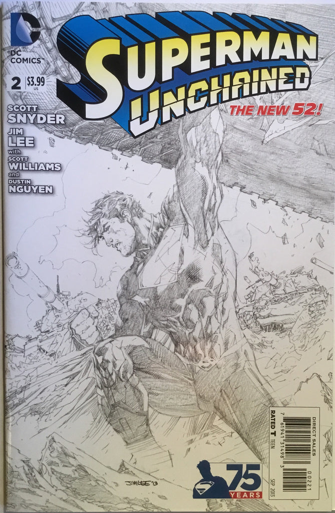 SUPERMAN UNCHAINED # 2 JIM LEE BLACK & WHITE 1:300 VARIANT