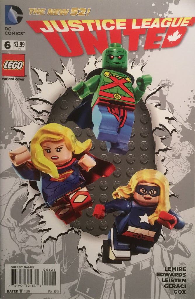 JUSTICE LEAGUE UNITED # 6 LEGO VARIANT COVER