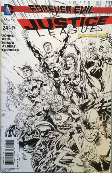 JUSTICE LEAGUE (THE NEW 52) # 24 REIS 1:100 SKETCH VARIANT