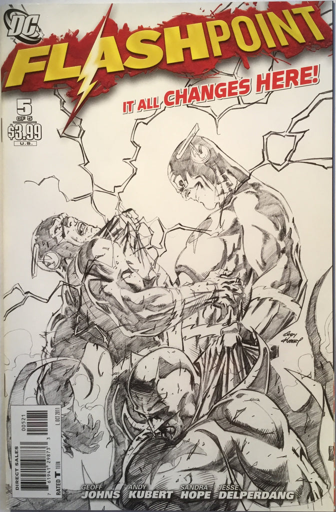 FLASHPOINT # 5 SKETCH COVER (1:25 VARIANT) - Comics 'R' Us