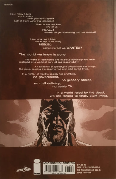 THE WALKING DEAD VOL 08 MADE TO SUFFER GRAPHIC NOVEL
