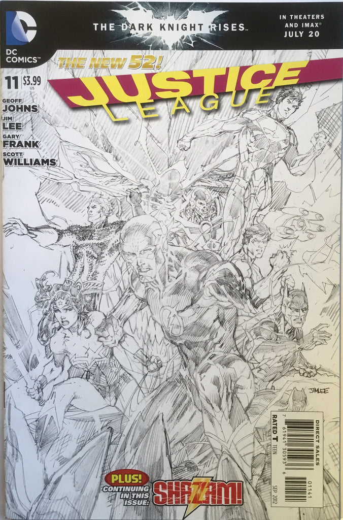 JUSTICE LEAGUE #11 (THE NEW 52) JIM LEE 1:100 SKETCH VARIANT - Comics 'R' Us