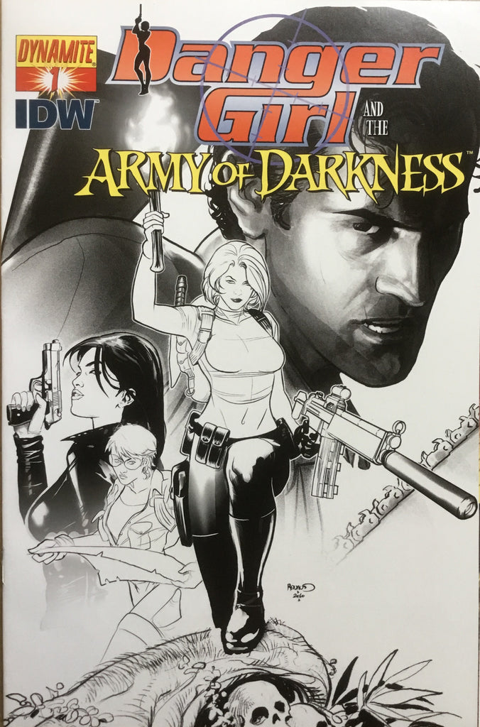 DANGER GIRL AND THE ARMY OF DARKNESS # 1 RENAUD SKETCH COVER (1:15 VARIANT) - Comics 'R' Us