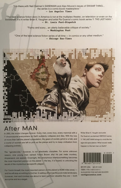 Y THE LAST MAN BOOK 1 GRAPHIC NOVEL