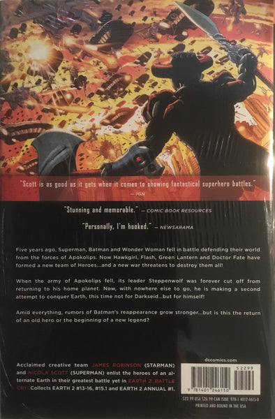 EARTH 2 VOL 3 BATTLE CRY HARDCOVER GRAPHIC NOVEL