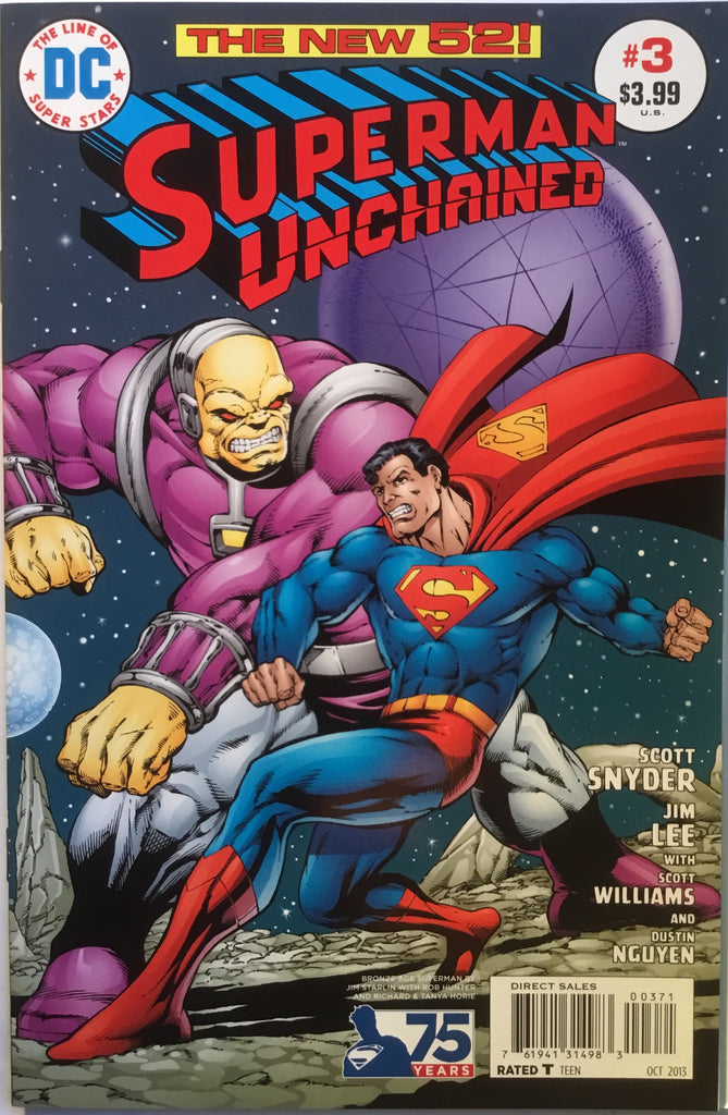 SUPERMAN UNCHAINED # 3 STARLIN 1:50 VARIANT