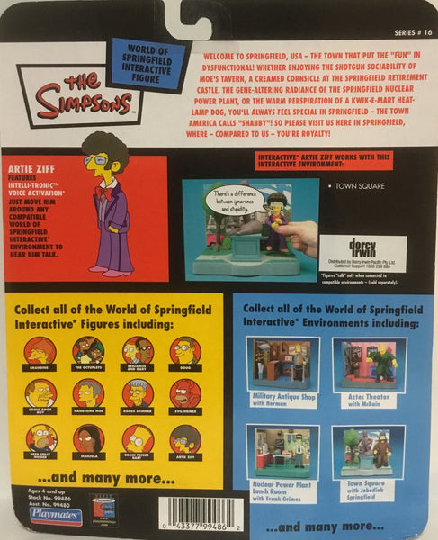 SIMPSONS WORLD OF SPRINGFIELD ARTIE ZIFF INTERACTIVE FIGURE