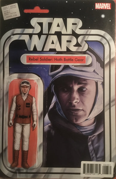 STAR WARS (2015-2020) #23 REBEL SOLDIER HOTH BATTLE GEAR ACTION FIGURE VARIANT COVER