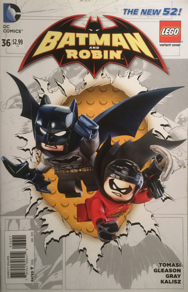 BATMAN AND ROBIN # 36 (THE NEW 52) LEGO VARIANT COVER - Comics 'R' Us