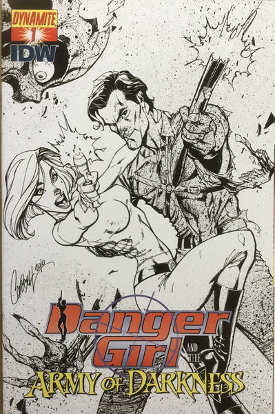 DANGER GIRL AND THE ARMY OF DARKNESS # 1 CAMPBELL SKETCH COVER (1:10 VARIANT) - Comics 'R' Us