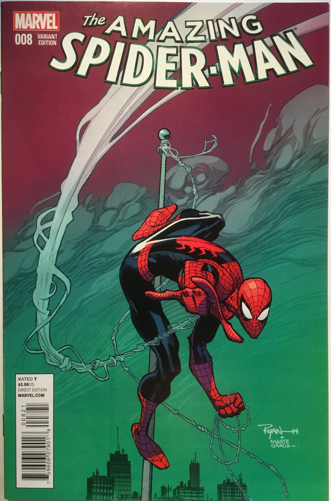 AMAZING SPIDER-MAN # 8 (2014) OTTLEY 1:25 VARIANT - Comics 'R' Us