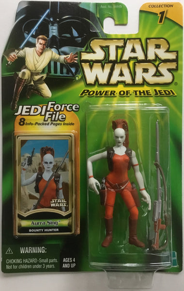 STAR WARS AURRA SING (BOUNTY HUNTER) ACTION FIGURE 2000