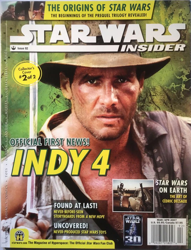STAR WARS INSIDER # 92 INDIANA JONES COVER
