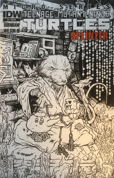 TMNT TEENAGE MUTANT NINJA TURTLES MICRO-SERIES # 5 SPLINTER 1:10 VARIANT COVER