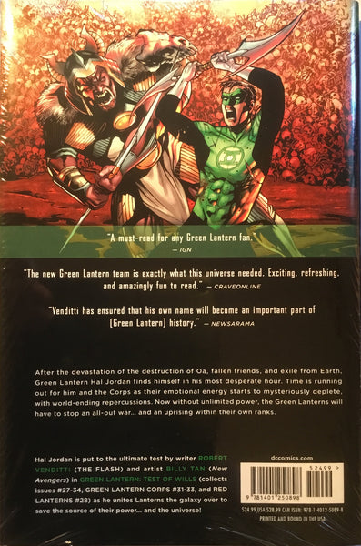 GREEN LANTERN (NEW 52) VOL 5 TEST OF WILLS HARDCOVER GRAPHIC NOVEL - Comics 'R' Us