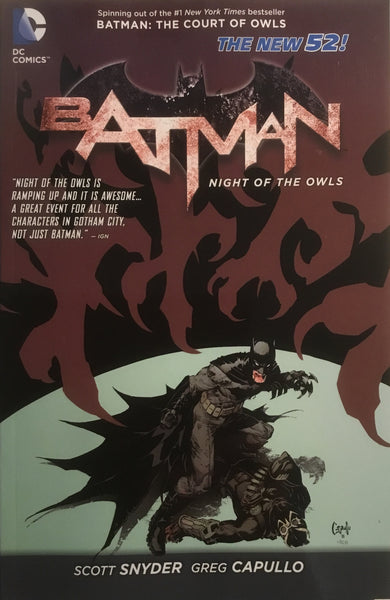 BATMAN NIGHT OF THE OWLS (NEW 52) GRAPHIC NOVEL - Comics 'R' Us