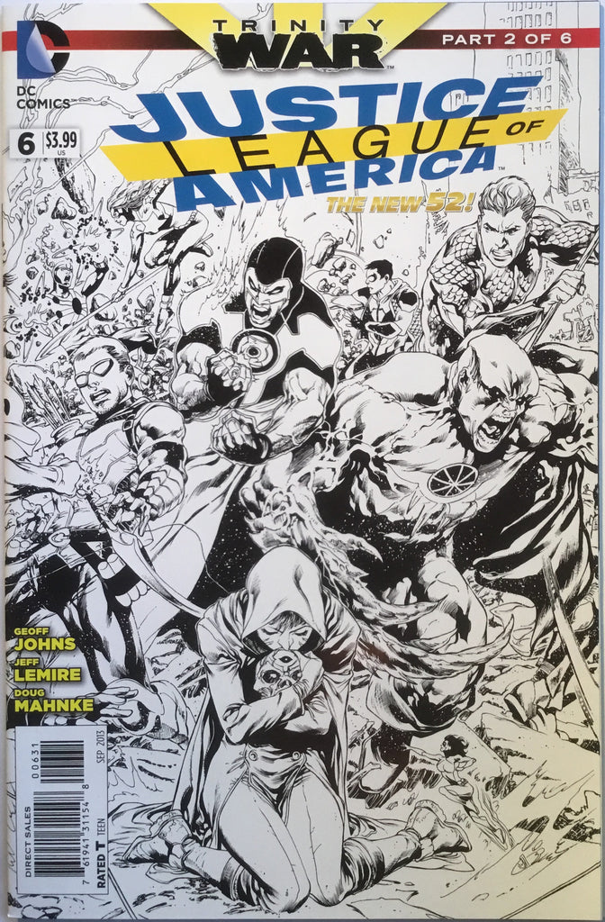 JUSTICE LEAGUE OF AMERICA # 6 (THE NEW 52) REIS 1:100 SKETCH VARIANT - Comics 'R' Us