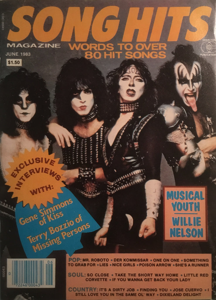 SONG HITS MAGAZINE FEATURING KISS
