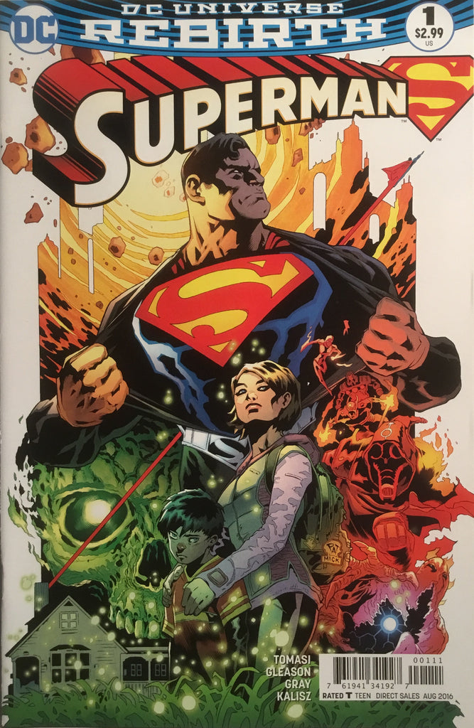 SUPERMAN # 1 (DC UNIVERSE REBIRTH) FIRST PRINTING
