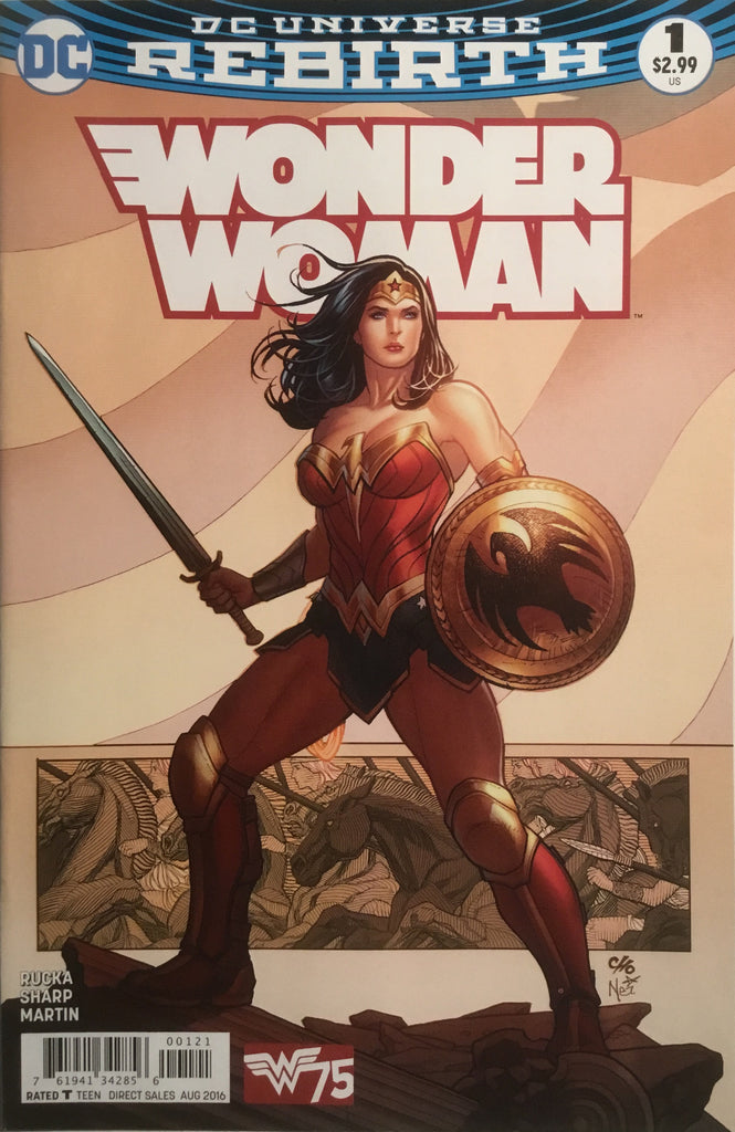 WONDER WOMAN (REBIRTH) # 1 VARIANT COVER FIRST PRINTING