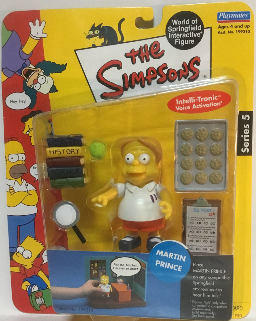 SIMPSONS WORLD OF SPRINGFIELD MARTIN PRINCE INTERACTIVE FIGURE