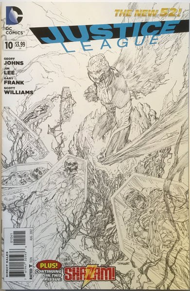JUSTICE LEAGUE #10 (THE NEW 52) JIM LEE 1:100 SKETCH VARIANT - Comics 'R' Us