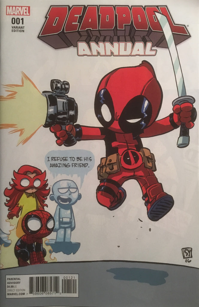 DEADPOOL ANNUAL (2016) # 1 SKOTTIE YOUNG VARIANT COVER