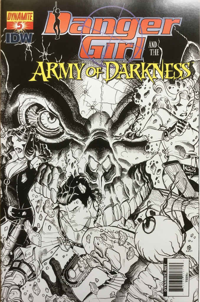 DANGER GIRL AND THE ARMY OF DARKNESS # 5 BRADSHAW SKETCH COVER (1:10 VARIANT) - Comics 'R' Us