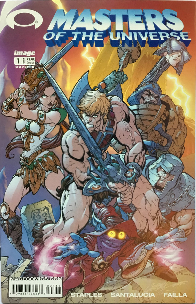 "MASTERS OF THE UNIVERSE # 1 COVER ""B"""