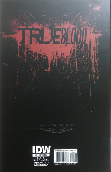 TRUE BLOOD # 4 CORRONEY SKETCH COVER (1:10 VARIANT)