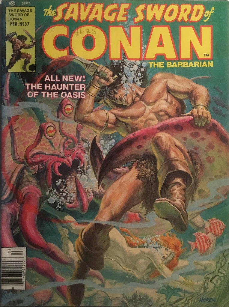 THE SAVAGE SWORD OF CONAN # 37