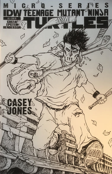TMNT TEENAGE MUTANT NINJA TURTLES MICRO-SERIES # 6 CASEY JONES 1:10 VARIANT