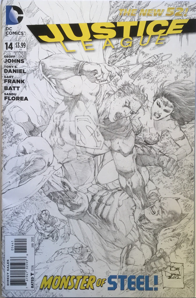 JUSTICE LEAGUE #14 (THE NEW 52) TONY DANIEL 1:100 SKETCH VARIANT - Comics 'R' Us