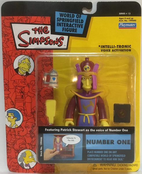 SIMPSONS WORLD OF SPRINGFIELD NUMBER ONE INTERACTIVE FIGURE