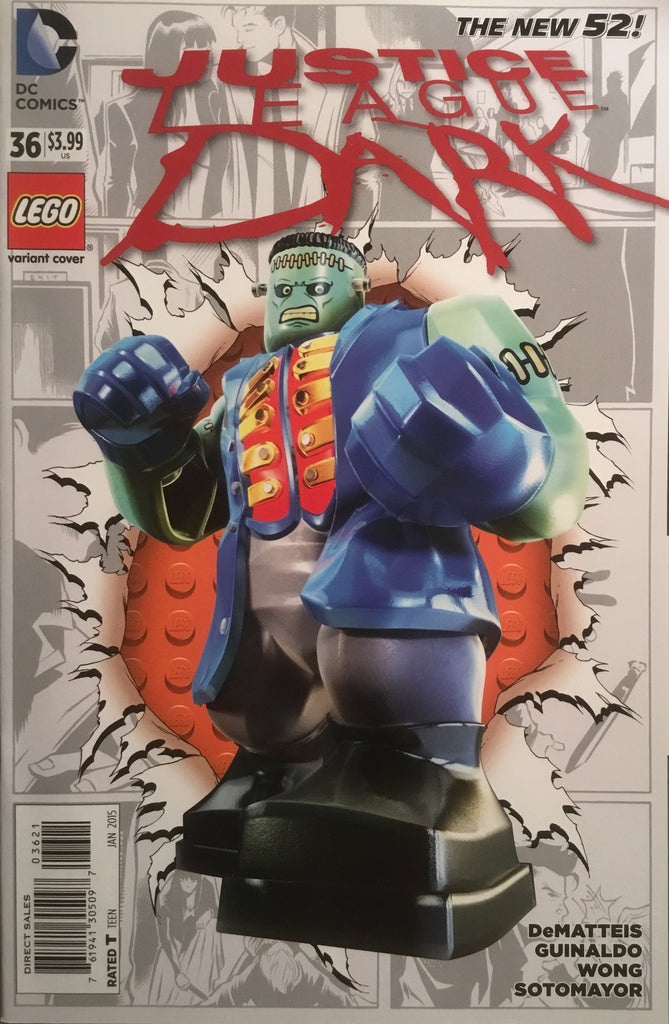 JUSTICE LEAGUE DARK # 36 (THE NEW 52) LEGO VARIANT COVER