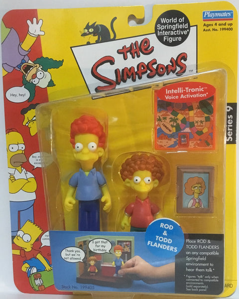 SIMPSONS WORLD OF SPRINGFIELD ROD & TODD FLANDERS INTERACTIVE FIGURE