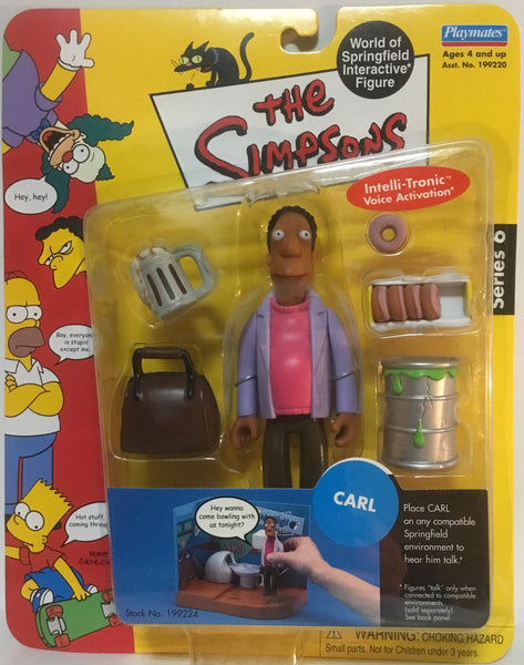 SIMPSONS WORLD OF SPRINGFIELD CARL INTERACTIVE FIGURE