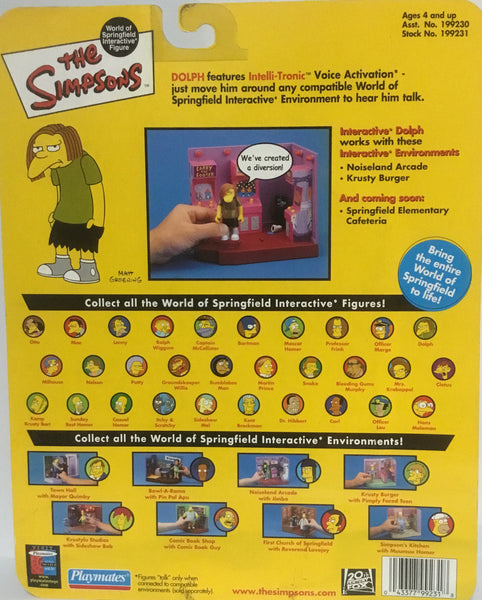 SIMPSONS WORLD OF SPRINGFIELD DOLPH INTERACTIVE FIGURE