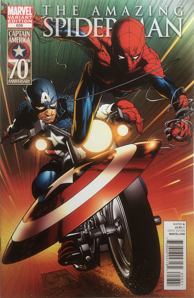AMAZING SPIDER-MAN (1999-2013) #656 QUESADA CAPTAIN AMERICA 70TH ANNIVERSARY COVER (1:15 VARIANT)