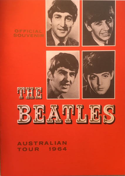 THE BEATLES 1964 AUSTRALIAN TOUR PROGRAM REPRODUCTION