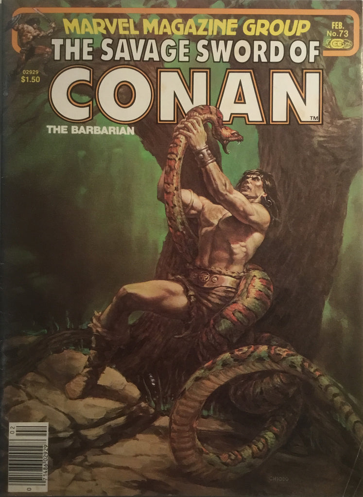 THE SAVAGE SWORD OF CONAN # 73