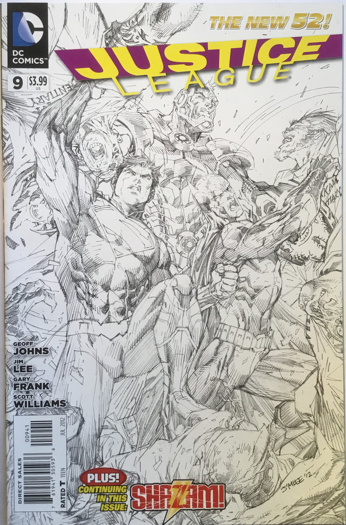 JUSTICE LEAGUE (THE NEW 52) # 09 JIM LEE 1:200 SKETCH VARIANT