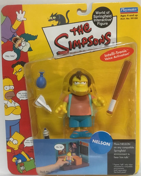 SIMPSONS WORLD OF SPRINGFIELD NELSON INTERACTIVE FIGURE
