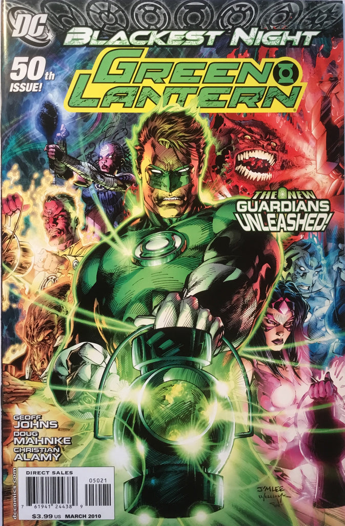 GREEN LANTERN # 50 (2005 SERIES) JIM LEE 1:25 VARIANT BLACKEST NIGHT - Comics 'R' Us